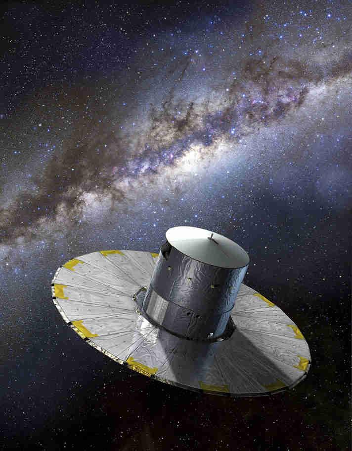 盖亚航天器在Galaxy Cores中观察到近500次爆炸