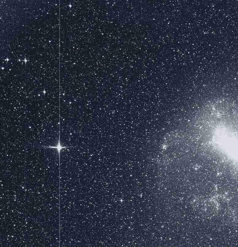 在寻找中的第一张苔丝图像找到超出太阳系之外的行星