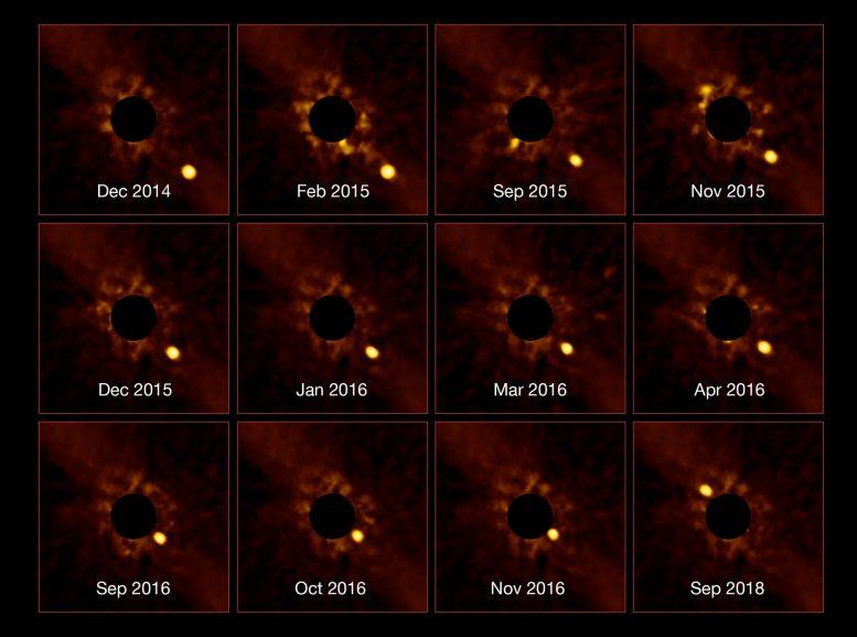 令人惊叹的Exoplanet Beta Pictoris B仲段图像