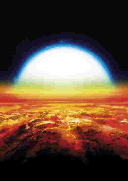 天文学家在Exoplanet Kelt-9B的气氛中发现铁和钛