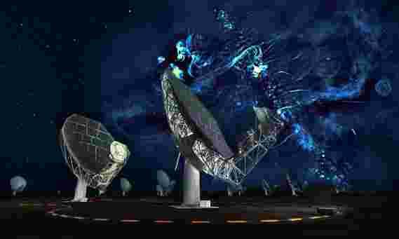 图象显示了一个令人惊讶的强大的事件,靠近银河系的中心