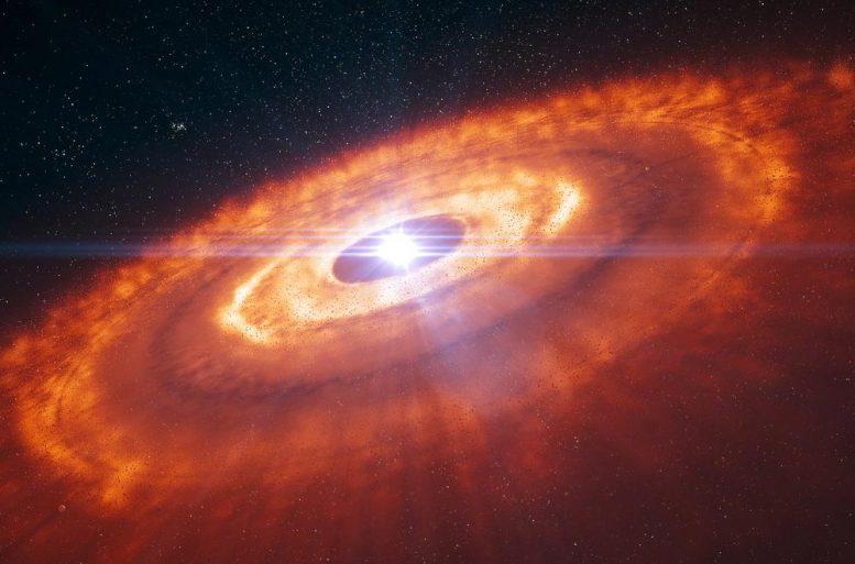 在年轻明星周围发现的稀有分子可以回答天文难题