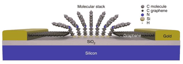 令人沮丧的捕获量22在基于石墨烯的分子装置中解决了
