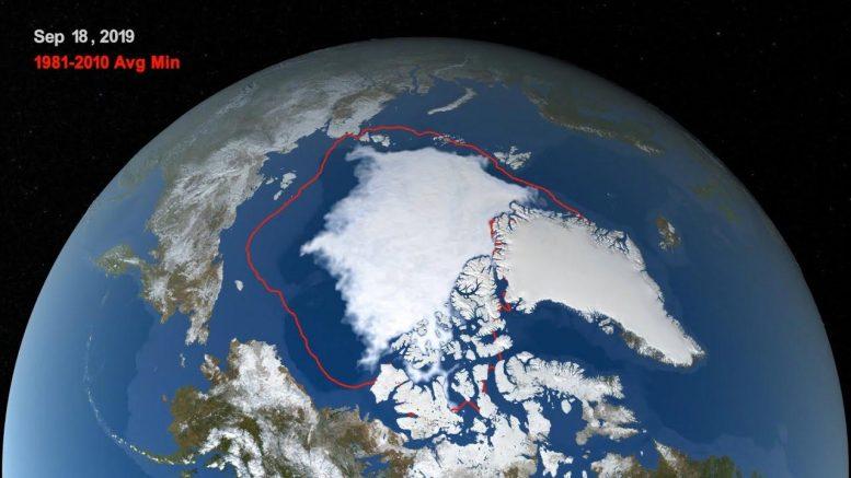 2019年北极海冰最小绑定在记录中第二最低[视频]